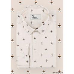 Koszula męska - Kawa. Białe koszule męskie marki Pakamera. Za 239,00 zł.