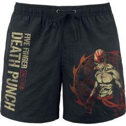 Five Finger Death Punch Way Of The Fist Kąpielówki czarny. Czarne kąpielówki męskie marki Five Finger Death Punch, xl, z nadrukiem. Za 99,90 zł.