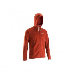 Bluza wspinaczkowa z kapturem męska. Czerwone bluzy męskie rozpinane marki KALENJI, m, z elastanu, z długim rękawem, długie. Za 99,99 zł.