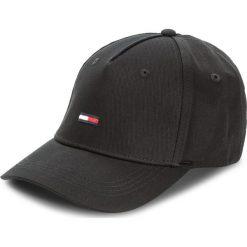 Czapka z daszkiem TOMMY JEANS - Tju Flag Cap M AU0AU00068  002. Czarne czapki z daszkiem męskie marki Tommy Jeans, z bawełny. Za 129,00 zł.