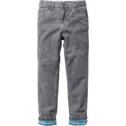 Odzież dziecięca: Spodnie z ciepłą flanelową podszewką bonprix szary denim