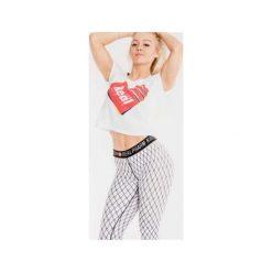 Spodnie damskie: Real Wear Leginsy 'Kabaretki' białe r. M