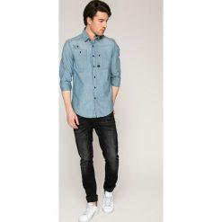 G-Star Raw - Koszula. Szare koszule męskie na spinki marki G-Star RAW, l, z bawełny, z klasycznym kołnierzykiem, z długim rękawem. W wyprzedaży za 239,90 zł.