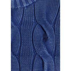 Polo Ralph Lauren OVERSIZED CABLE Sweter indigo. Niebieskie swetry klasyczne damskie Polo Ralph Lauren, xl, z bawełny, polo. Za 589,00 zł.
