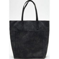 Duża torba na ramię - Szary. Czarne torebki klasyczne damskie marki B'TWIN, z materiału. Za 99,99 zł.