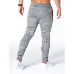SPODNIE MĘSKIE DRESOWE P657 - GRAFITOWE. Szare spodnie dresowe męskie marki Ombre Clothing, z bawełny. Za 69,00 zł.