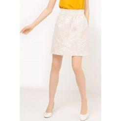 Minispódniczki: Spódnica żakardowa ananas