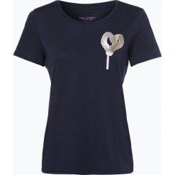 Marc O'Polo Denim - T-shirt damski, niebieski. Niebieskie t-shirty damskie Marc O'Polo DENIM, z nadrukiem, z denimu, polo. Za 129,95 zł.