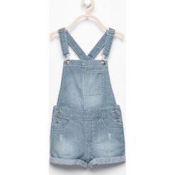 Szorty damskie: Jeansowe szorty ogrodniczki – Niebieski