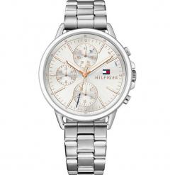 """Zegarek kwarcowy """"Carly"""" w kolorze srebrnym. Szare, analogowe zegarki damskie TOMMY HILFIGER, srebrne. W wyprzedaży za 545,95 zł."""