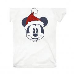 Christmas T-Shirt T-Shirt Damski Mickey Santa Face Xl Biały. Białe t-shirty damskie Christmas T-Shirt, xl, z motywem z bajki, z bawełny. Za 65,00 zł.