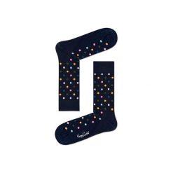 Skarpetki Happy Socks - Dot (DOT01-6003). Czarne skarpetki męskie Happy Socks, w kolorowe wzory, z bawełny. Za 34,90 zł.