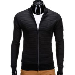 Bluzy męskie: BLUZA MĘSKA ROZPINANA BEZ KAPTURA B551 – CZARNA
