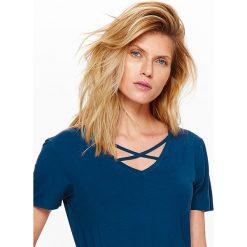 T-shirty damskie: T-SHIRT KRÓTKI RĘKAW DAMSKI GŁADKI