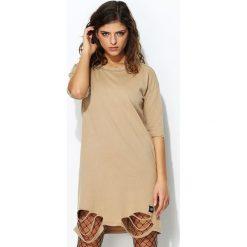 Sukienki: Beżowa Sukienka Wanderlust