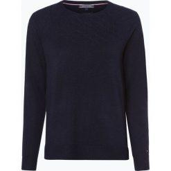 Swetry klasyczne damskie: Tommy Hilfiger - Sweter damski z dodatkiem kaszmiru, niebieski