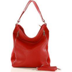 ESTELLA Skórzana torebka włoska na ramię - czerwona. Czerwone torebki klasyczne damskie marki Reserved, duże. Za 279,00 zł.