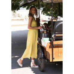 Sukienki: Żółta Sukienka Empire Time