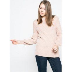 Only - Sweter Luv. Szare swetry klasyczne damskie ONLY, l, z dzianiny. W wyprzedaży za 79,90 zł.
