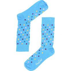 Skarpetki damskie: Niebieskie Skarpetki Dot Happy Socks