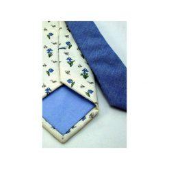 IT-046 Krawat jedwabny MILANO. Brązowe krawaty męskie Luma milanówek, z bawełny. Za 200,00 zł.