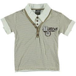T-shirty chłopięce z krótkim rękawem: Koszulka polo w kolorze beżowym