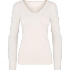 Kremowy Sweter Reflecting. Białe swetry klasyczne damskie Born2be, l, dekolt w kształcie v. Za 74,99 zł.