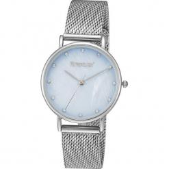 """Zegarek kwarcowy """"Pearly"""" w kolorze czarno-srebrnym. Szare, analogowe zegarki damskie METROPOLITAN, metalowe. W wyprzedaży za 130,95 zł."""
