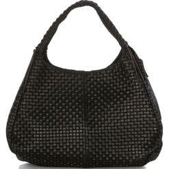 Torebki klasyczne damskie: Skórzana torebka w kolorze czarnym – 43 x 38 x 20 cm