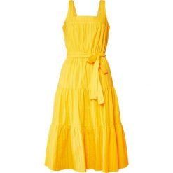 MICHAEL Michael Kors TIERED MIDI DRESS Sukienka letnia bright dandelion. Żółte sukienki letnie marki MICHAEL Michael Kors, l, z bawełny, midi. Za 819,00 zł.