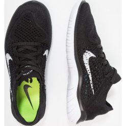 Nike Performance FREE RN FLYKNIT 2018 Obuwie do biegania neutralne black/white. Czarne buty do biegania damskie marki Nike Performance, z materiału. Za 549,00 zł.