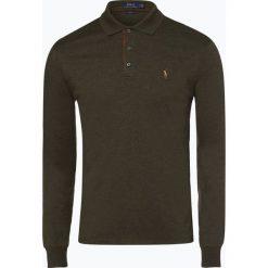 Polo Ralph Lauren - Męska koszulka polo – Slim fit, beżowy. Brązowe koszulki polo marki Polo Ralph Lauren, l, z bawełny, z długim rękawem. Za 529,95 zł.