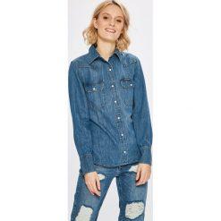 Calvin Klein Jeans - Koszula. Szare koszule jeansowe damskie marki Calvin Klein Jeans, l, casualowe, button down, z długim rękawem. W wyprzedaży za 299,90 zł.