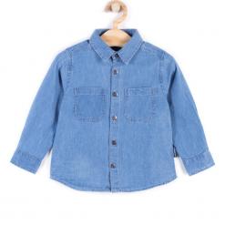 Koszula. Niebieskie koszule chłopięce z długim rękawem marki REBELS, z bawełny, polo. Za 39,90 zł.