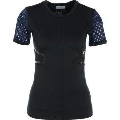 Adidas by Stella McCartney RUN Tshirt z nadrukiem black. Czarne topy sportowe damskie adidas by Stella McCartney, xs, z nadrukiem, z elastanu. Za 329,00 zł.