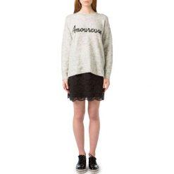 Kardigany damskie: Sweter, okrągły dekolt, dzianina o cienkim splocie