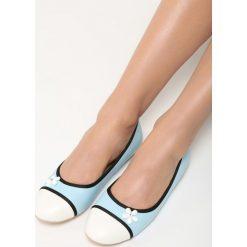 Niebieskie Balerinki White Daisy. Białe baleriny damskie lakierowane Born2be, ze skóry, na płaskiej podeszwie. Za 39,99 zł.