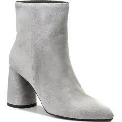 Botki EVA MINGE - Hellin 3F 18GR1372414ES  809. Szare buty zimowe damskie marki Eva Minge, ze skóry, na obcasie. W wyprzedaży za 359,00 zł.
