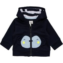 GAP NEWBORN Bluza rozpinana navy. Niebieskie bluzy dziewczęce GAP, z bawełny. Za 149,00 zł.