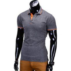 KOSZULKA MĘSKA POLO BEZ NADRUKU S666 - GRAFITOWA. Szare koszulki polo Ombre Clothing, m, z nadrukiem, z bawełny. Za 39,00 zł.