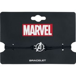 Bransoletki damskie na nogę: Avengers Silver Logo Bransoletka czarny/srebrny