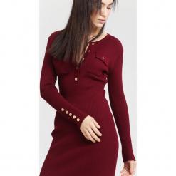 Bordowa Sukienka Right Music. Czerwone sukienki dzianinowe other, na jesień, l. Za 99,99 zł.