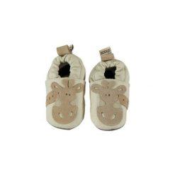 Shooshoos  Boys Baby Buciki do raczkowania Żyrafa kolor beżowy. Brązowe buciki niemowlęce Shooshoos, z materiału. Za 99,00 zł.