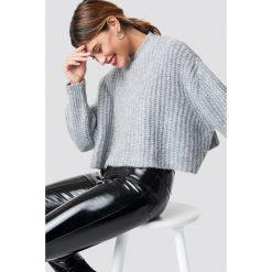 Swetry oversize damskie: Trendyol Krótki sweter - Grey