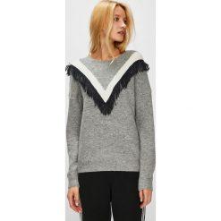 Medicine - Sweter Hand Made. Szare swetry klasyczne damskie MEDICINE, l, z dzianiny, z okrągłym kołnierzem. Za 119,90 zł.