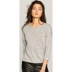 Sweter - Jasny szar. Szare swetry klasyczne męskie marki bonprix, l, melanż. Za 79,99 zł.
