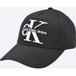 Calvin Klein Jeans - Czapka. Czarne czapki z daszkiem męskie marki Calvin Klein Jeans, z bawełny. W wyprzedaży za 179,90 zł.