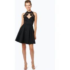 Lipsy - Damska sukienka koktajlowa, czarny. Czarne sukienki hiszpanki Lipsy, w koronkowe wzory, z koronki, proste. Za 449,95 zł.