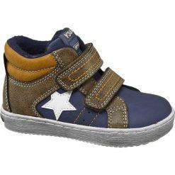 Buciki dziecięce Bobbi-Shoes niebieskie. Brązowe buciki niemowlęce chłopięce Bobbi-Shoes, z materiału, na rzepy. Za 79,90 zł.
