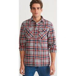 Koszula flanelowa COMFORT FIT - Wielobarwn. Niebieskie koszule męskie marki Reserved, l. Za 139,99 zł.